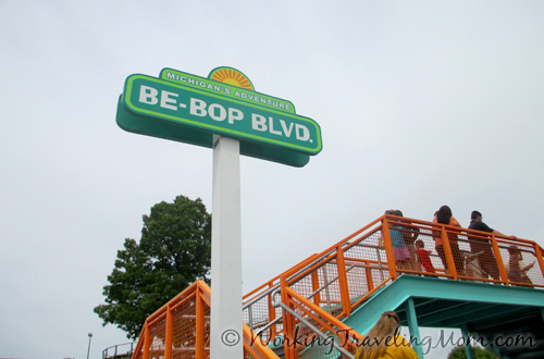 Be Bop Blvd sign at Michigan's Adventure