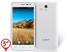 "Cubot BOBBY 5.0"" Capacitive TFT Touch Screen 960x540 Android 4.2 Dual Core MTK6572W 1.3GHz 512MB RAM & 4GB ROM 3G Smartphone Phablet with 3400mAh Battery, GPS/A-GPS, Bluetooth, 1.3MP & 5.0MP Camera (White)"