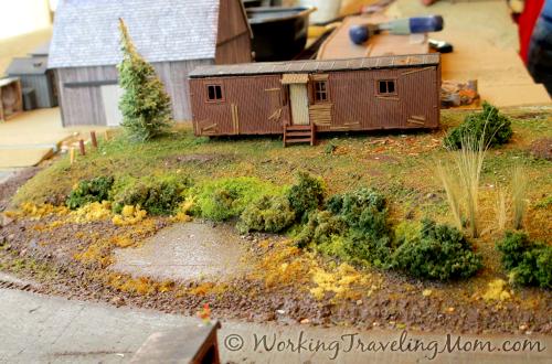 Model train set at Southern Michigan Railroad