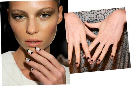 модный дизайн лунных ногтей