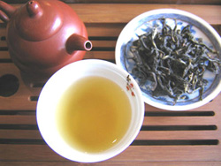 Preparation of oolong tea