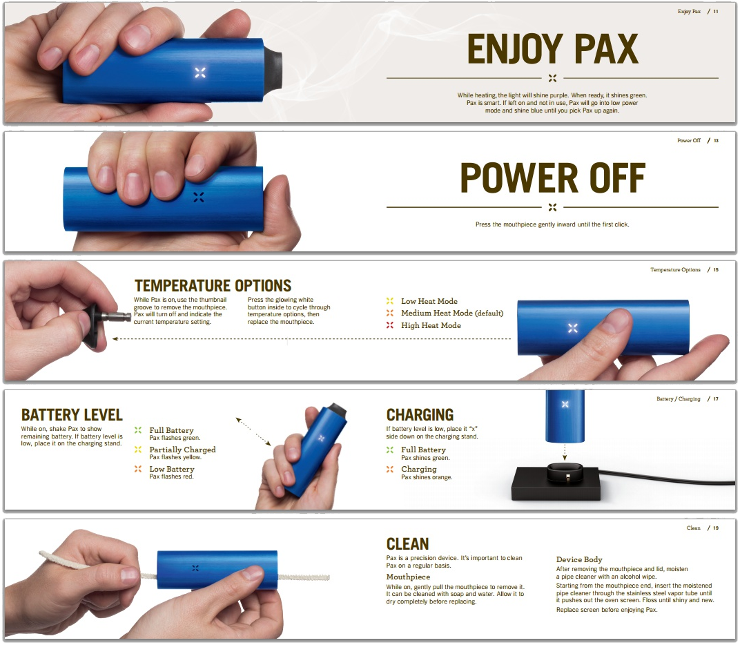 How to use the Pax