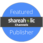 I'm a featured publisher in Shareaholic Channels!