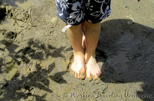 Huron River feet in the sand