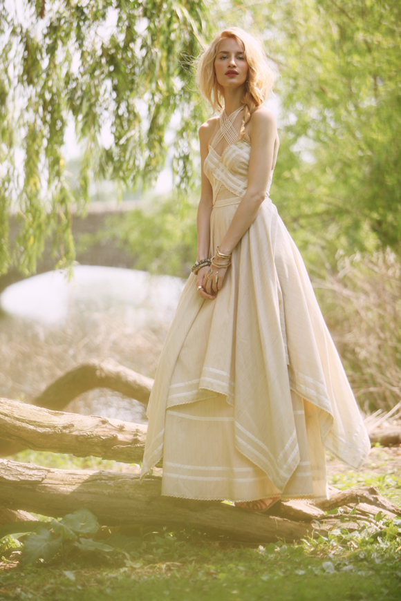 white summer maxi dress Hippie Bohemian Wedding Dresses for a Romantic Summer
