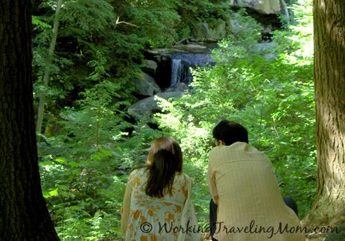 Couple enjoying view at fallingwater pennsylvania