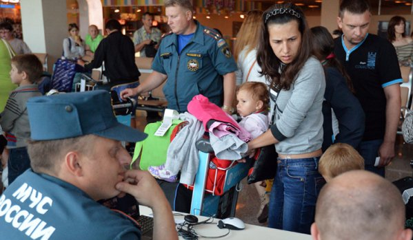 Russia's Ministry of Emergency Situations takes in Ukrainian refugees
