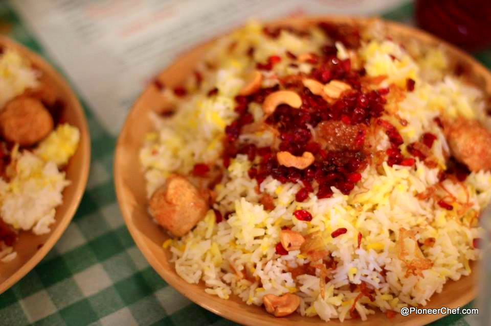 The iconic berry pulao