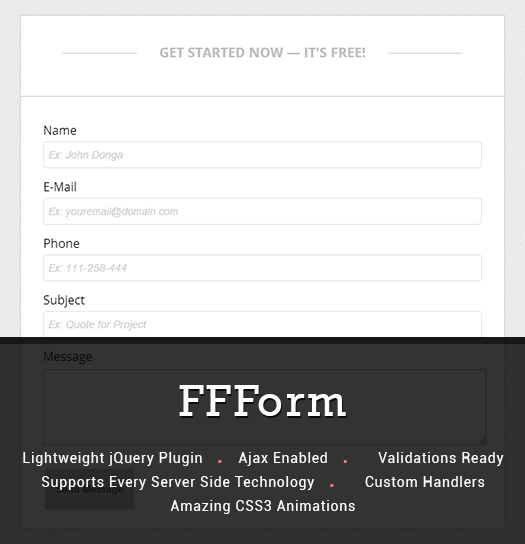 jQuery contact form plugin with amazing CSS3 animations