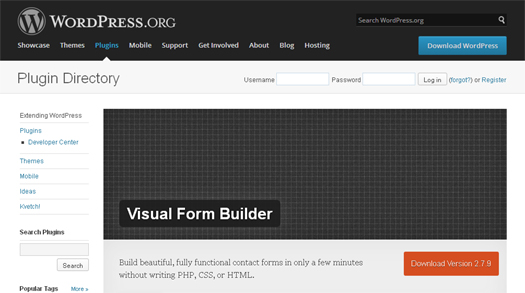 Fully Functional Visual Contact Form Builder