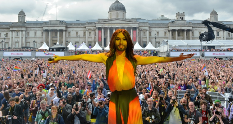 Conchita on stage at Pride in London