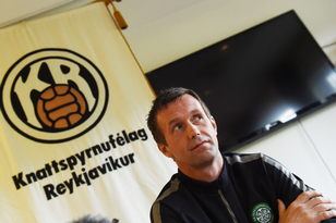 Celtic manager Ronny Deila holds a press conference in Reykjavik ahead of tonight's game