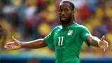 Didier Drogba of the Ivory Coast gestures