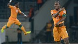 Ivory Coast's Didier Drogba celebrates qualifying for the 2014 FIFA World Cup in Brazil