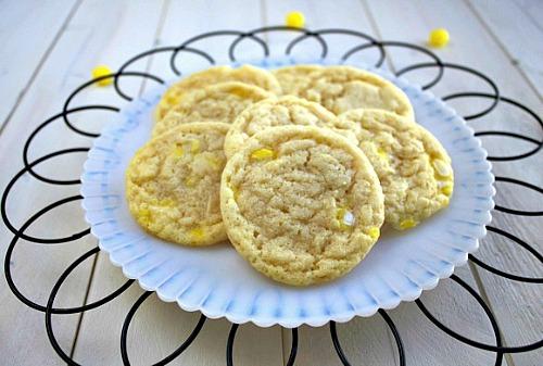 Chewy Lemonhead Sugar Cookies