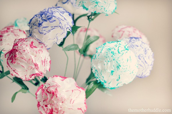 Simple Kleenex Flowers