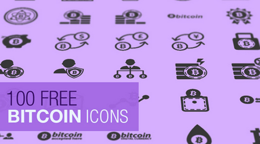 Freebie The Bitcoin Icon Set (100 Icons, SVG & JPG)