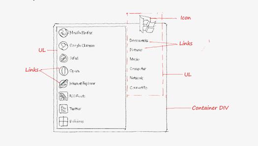 Windows 7 Start Menu using CSS3 Only