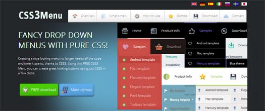 Free Tool to Create CSS3 Navigations - CSS3 Menu