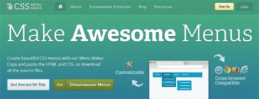Create Beautiful CSS Menus with Menu Maker