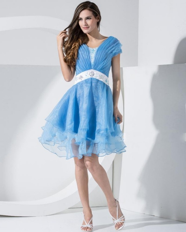 blue prom dresses with sleeves