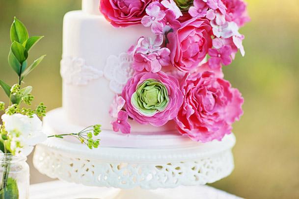 vintage pink photoshoot wedding