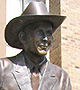 Sculpture of Hank Williams in Montgomery, Alabama