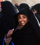 A smiling girl in a burka in Tunisia
