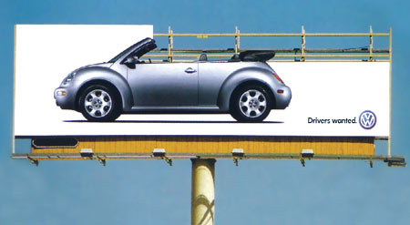VW convertible billboard