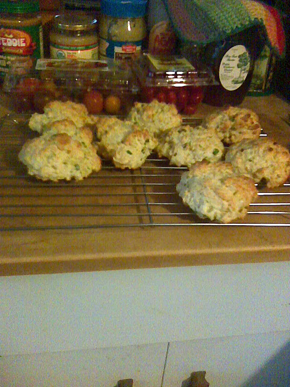 Cheese Scallion Drop Biscuits 1