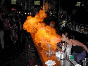 Flaming shot