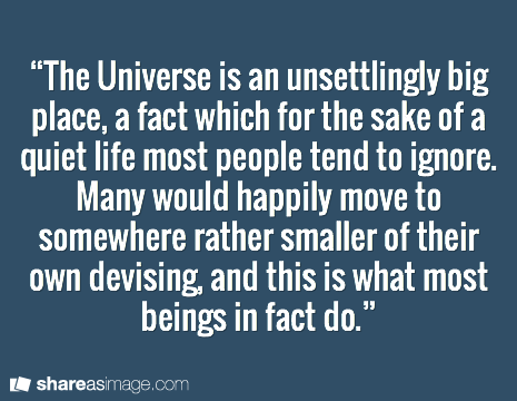 Douglas Adams Quote Universe