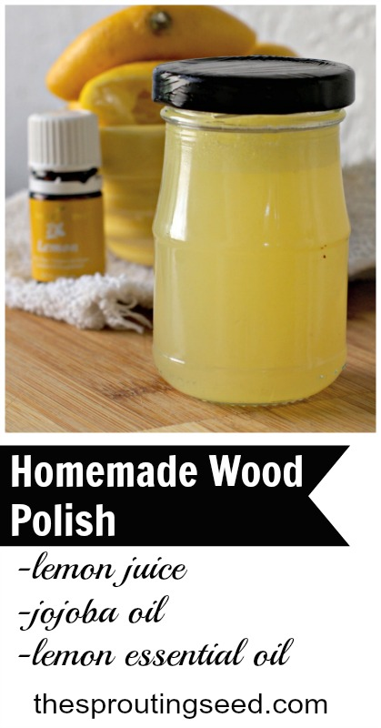 I use this homemade wood polish on all of my furniture! I love that it's natural and toxin-free! thesproutingseed.com