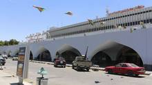 A general view of the front of the airport is seen after a shelling at Tripoli International Airport July 17, 2014. (Hani Amara/REUTERS)