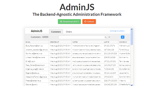 The Backend-Agnostic Administration Framework - AdminJS