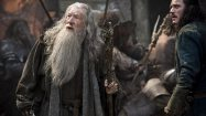"Ian McKellen  and Luke Evans in ""The Hobbit: The Battle of the Five Armies.""  (Mark Pokorny /Warner Bros.)"