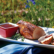 Spice-rubbed Pork Tenderloin with Barbecue Sauce