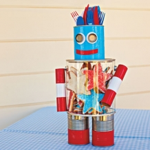 July 4th Robot Craft for Picnic Tables