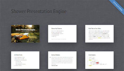 Shower HTML Presentation Engine - Shower