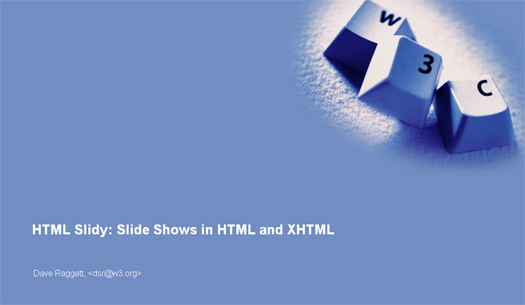 Slide Shows in HTML and XHTML - HTML Slidy