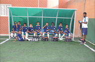 [Magharebia/Mohamed Foily] Mauritanian children gather for a group picture at the new football academy in Nouakchott.
