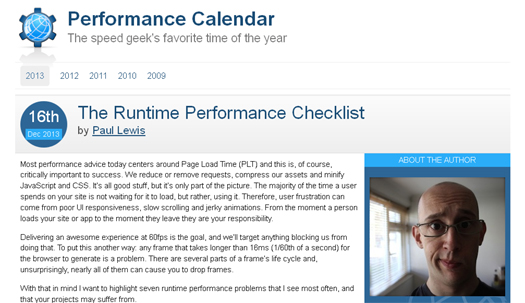 The Runtime Performance Checklist