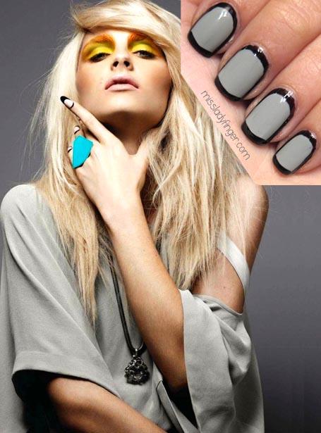 2 цвета ногти фото