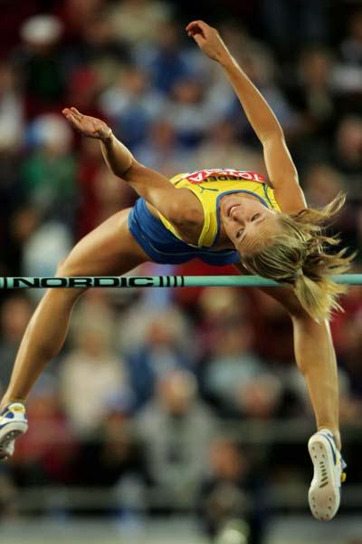 Kajsa Bergqvist of Sweden qualifies for the women's High Jump final (Getty Images)