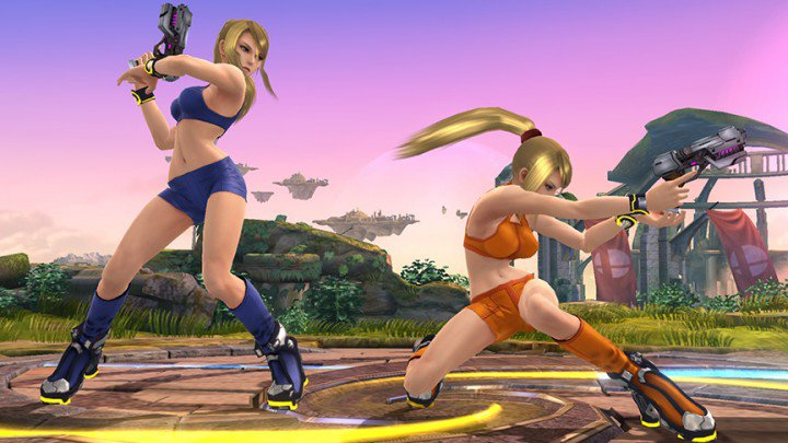 Samus's skimpy new outfit revealed today on Miiverse, Oh My.
