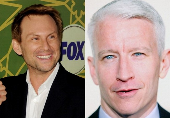 Anderson Cooper and Christian Slater