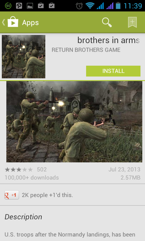 brothers in arms android app