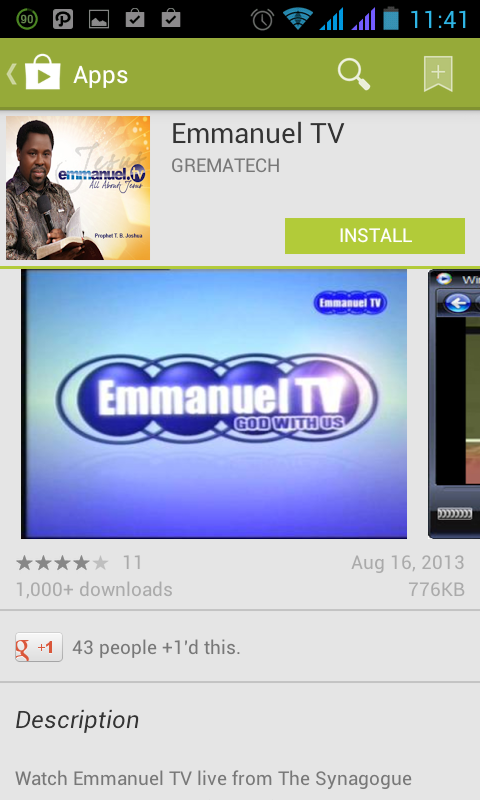 emmanuel tv android app