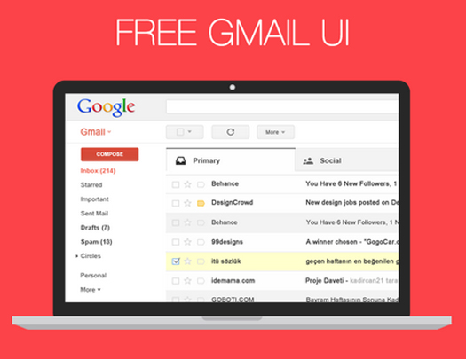 GMAIL UI PSD - Free Download