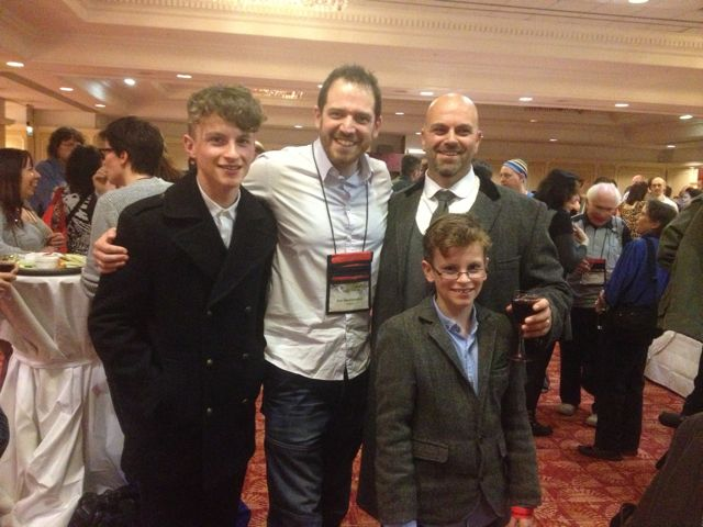 Me, Edward and William with a certain Joe Abercrombie.